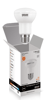 Gauss LED Elementary Reflector R63 7.5W E27 2700K арт. LD63218