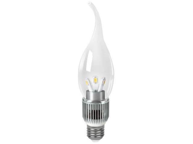 Gauss LED Candle Tailed Crystal clear 5W E27 2700K диммируемая арт. HA104202105-D