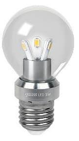 Gauss LED Globe Crystal clear 3W E27 4100K арт. HA105202203