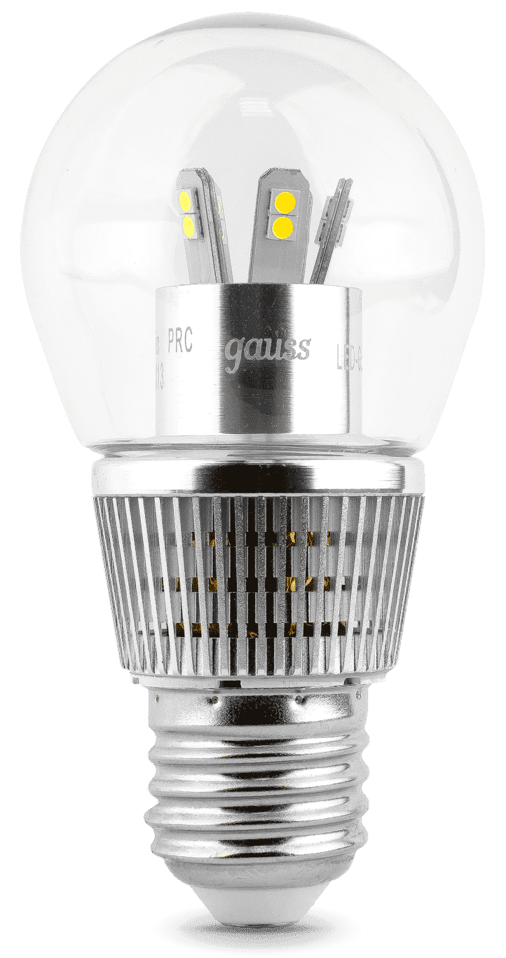 Gauss LED Globe-dim Crystal Clear 7W E27 4100K диммируемая арт. HA105202207-D