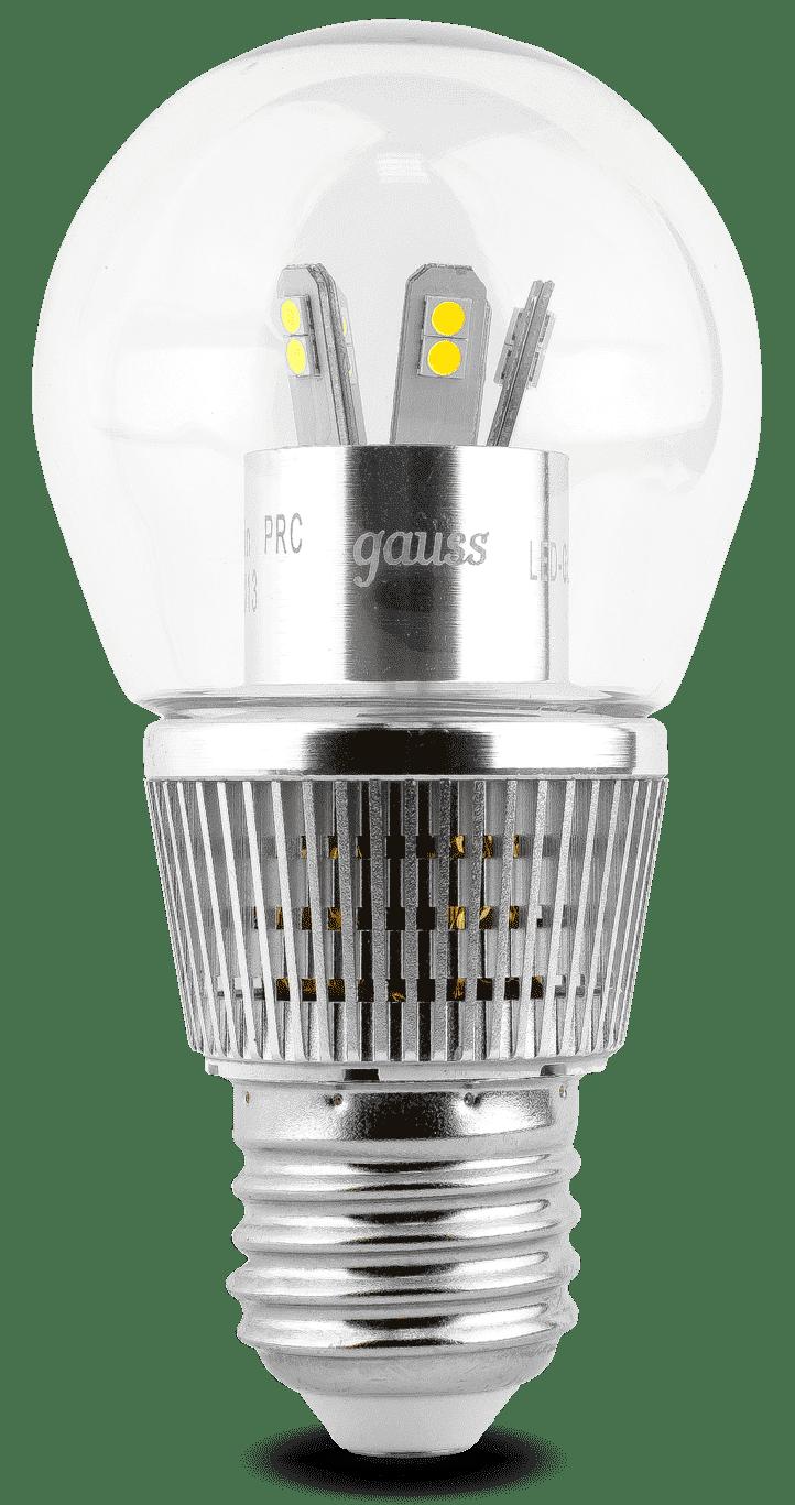 Gauss LED Globe-dim Crystal Clear 7W E27 4100K диммируемая арт. HA105202207-D