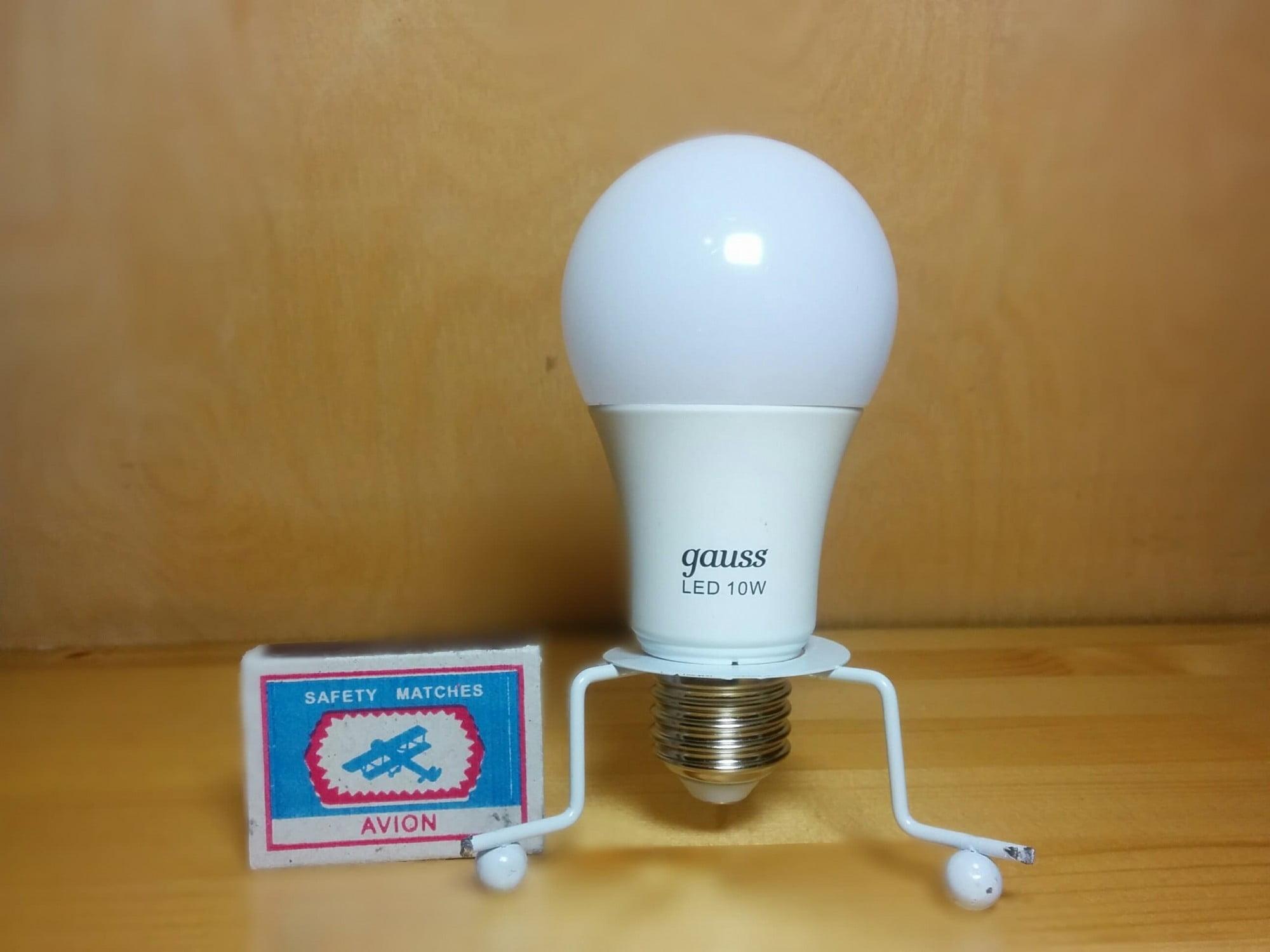 Gauss LED A60 10W E27 4100K лампа
