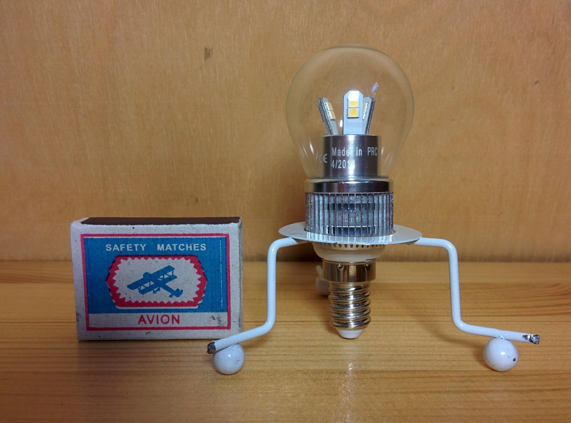 Gauss LED Globe-dim Crystal Clear 5W E14 4100K диммируемая лампа