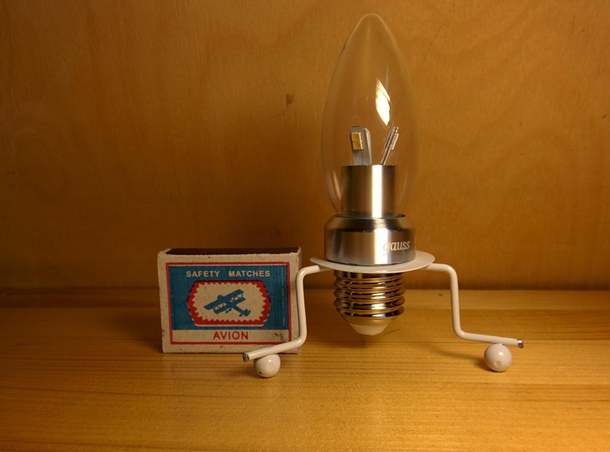 Gauss LED Candle-dim Crystal clear 5W E27 4100K диммируемая лампа