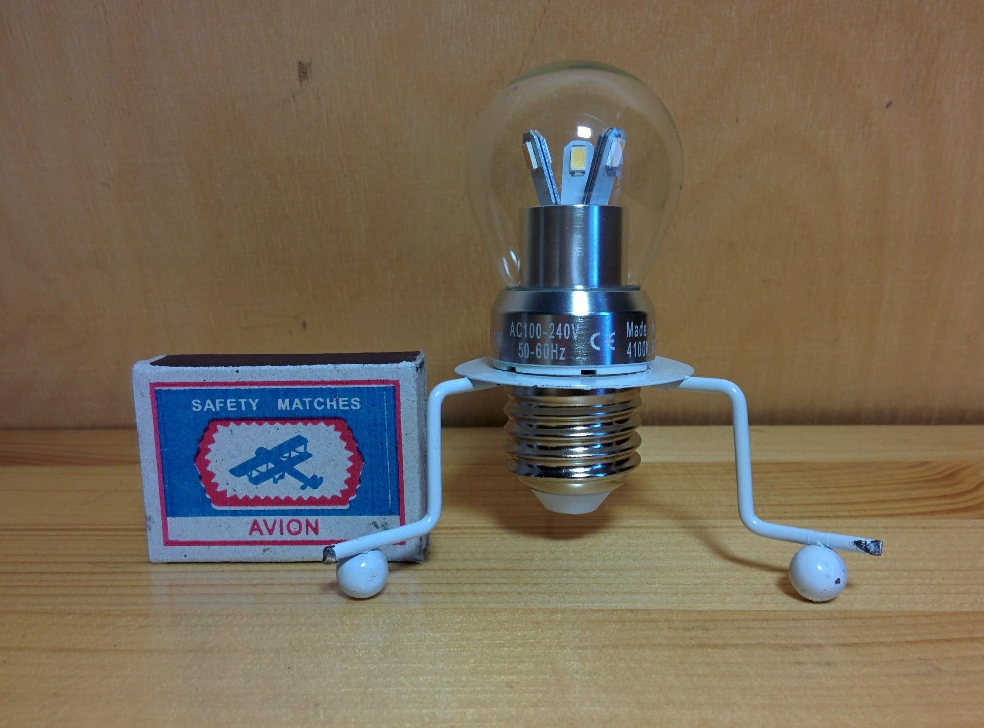 Gauss LED Globe Crystal clear 3W E27 4100K лампа