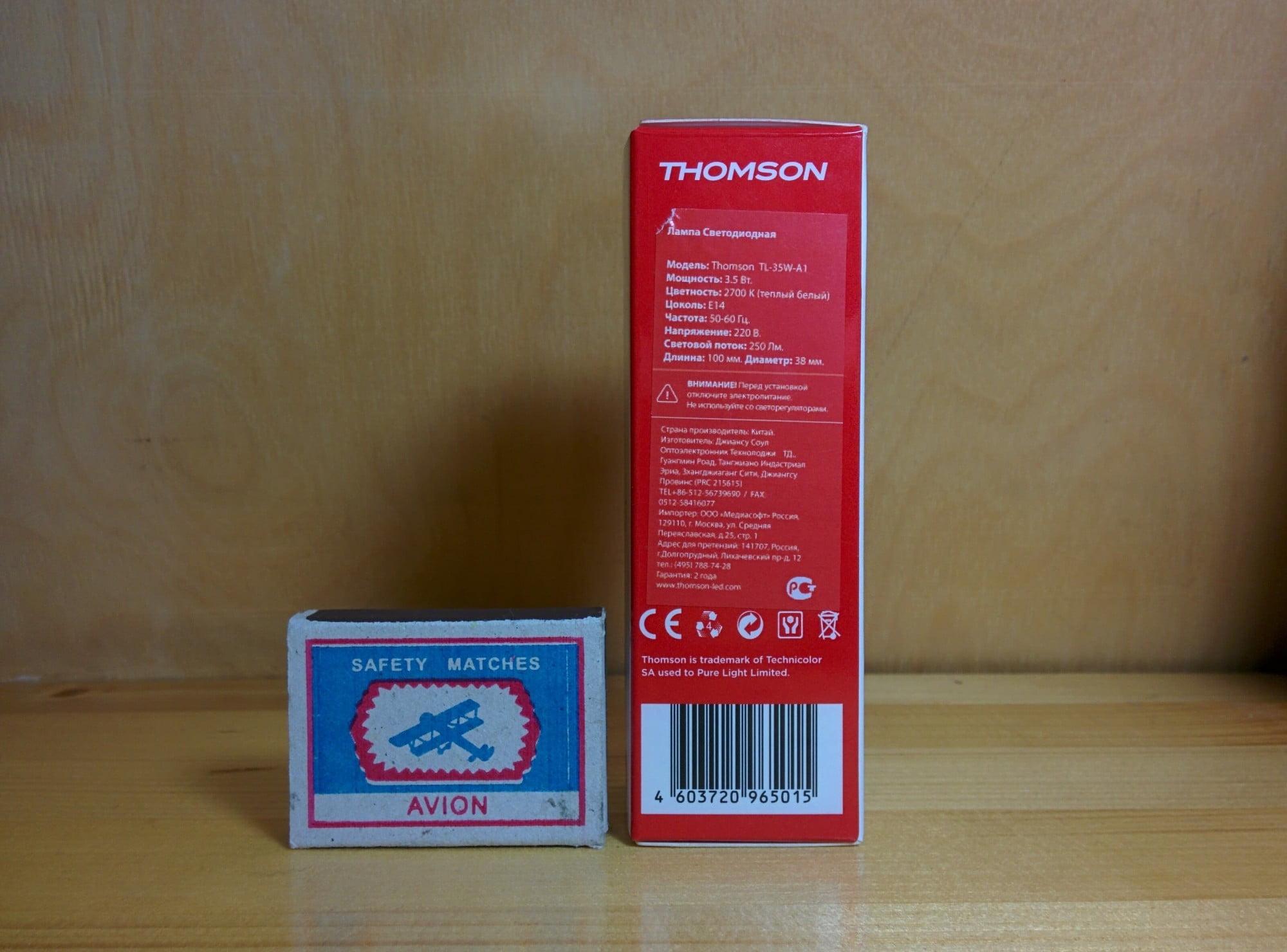 Thomson TL-35W-A1 характеристики