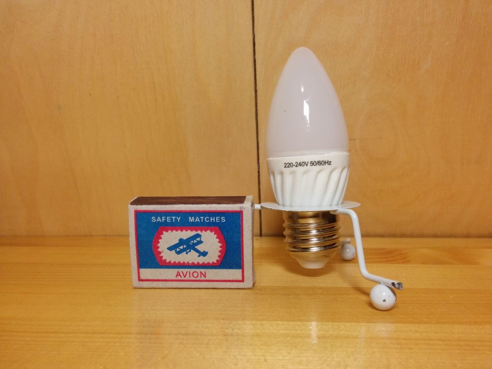 Gauss LED Ceramic Candle 3W E27 4100K лампа