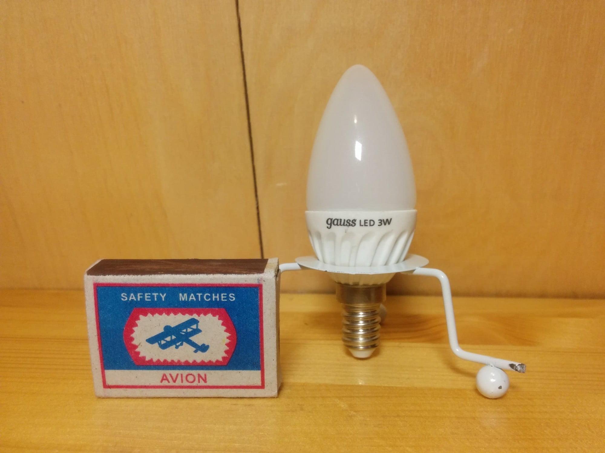 Gauss LED Ceramic Candle 3W E14 4100K лампа