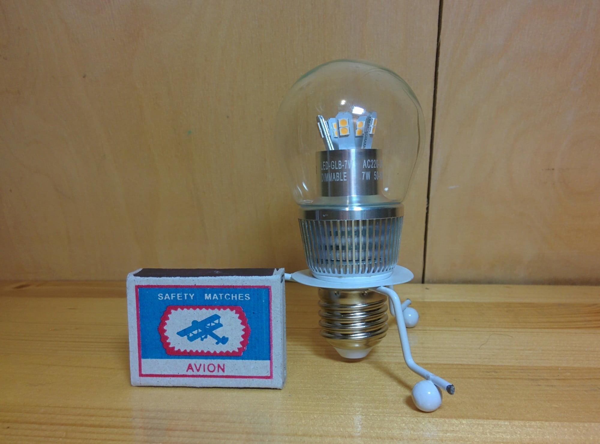 Gauss LED Globe-dim Crystal Clear 7W E27 2700K диммируемая лампа