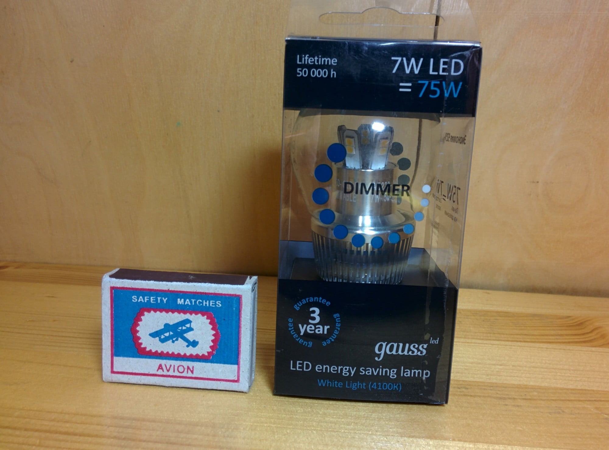 Gauss LED Globe-dim Crystal Clear 7W E27 4100K диммируемая упаковка