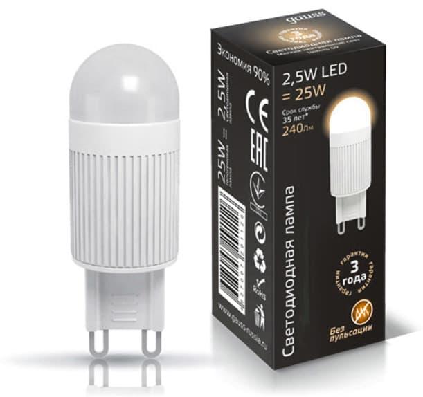 Gauss LED G9 2.5W 230V 2700K арт. LD107309125