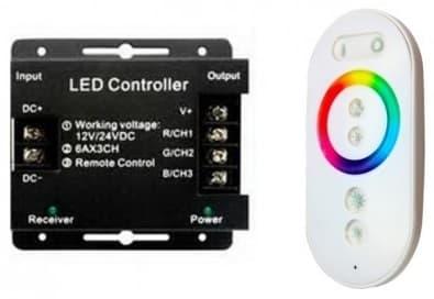 Контроллер для светодиодной ленты Gauss RGB 288W 24А с сенсорным пультом управления цветом (белый) арт. 201013288