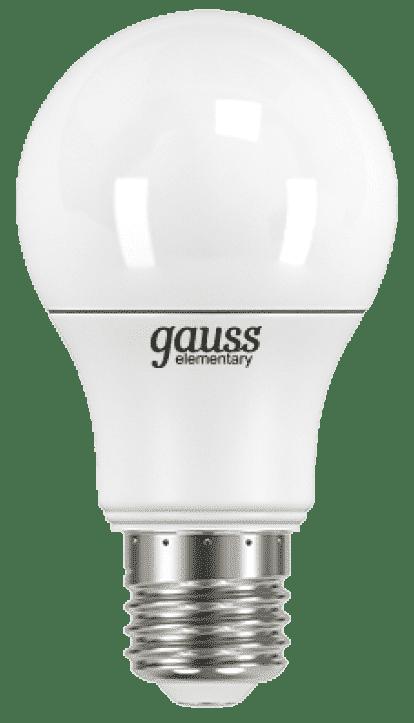 Светодиодная лампа Gauss LED A60 7W E27 4100K 1/10/100 арт. 23227A