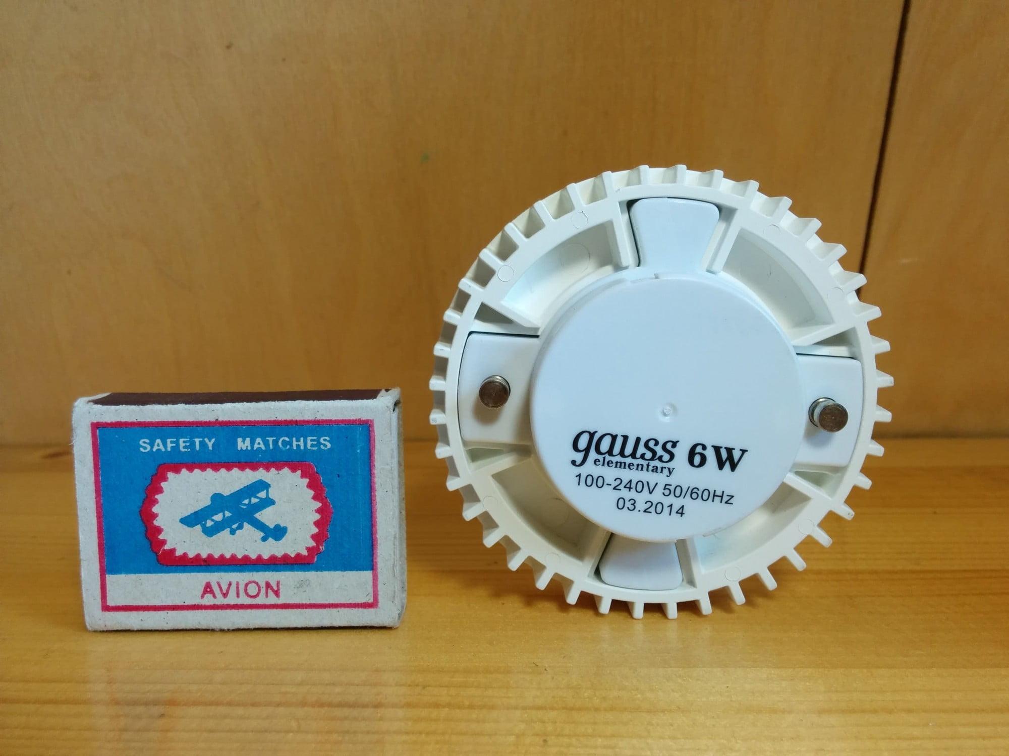 Gauss LED Elementary GX53 6W 2700K 1/10/50 лампа