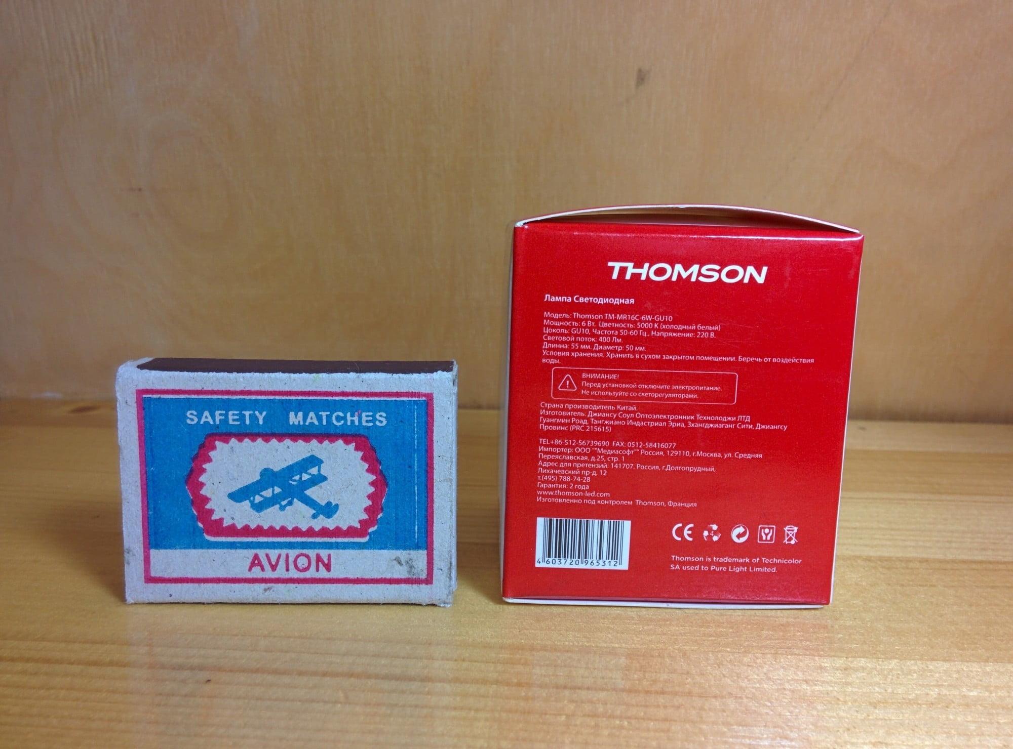 Thomson TM-MR16C-6W-GU10 характеристики