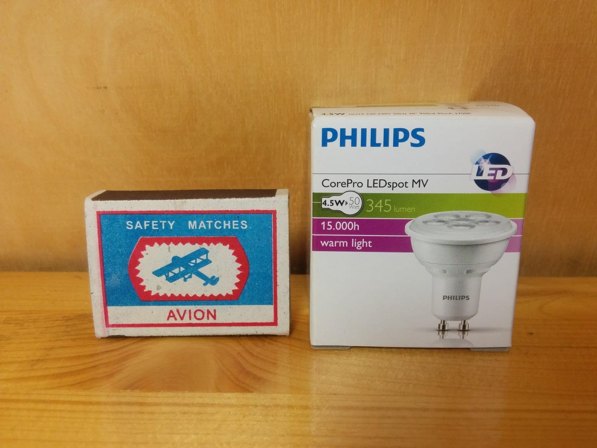 Philips CorePro LEDspotMV 4.5-50W GU10 827 36D упаковка
